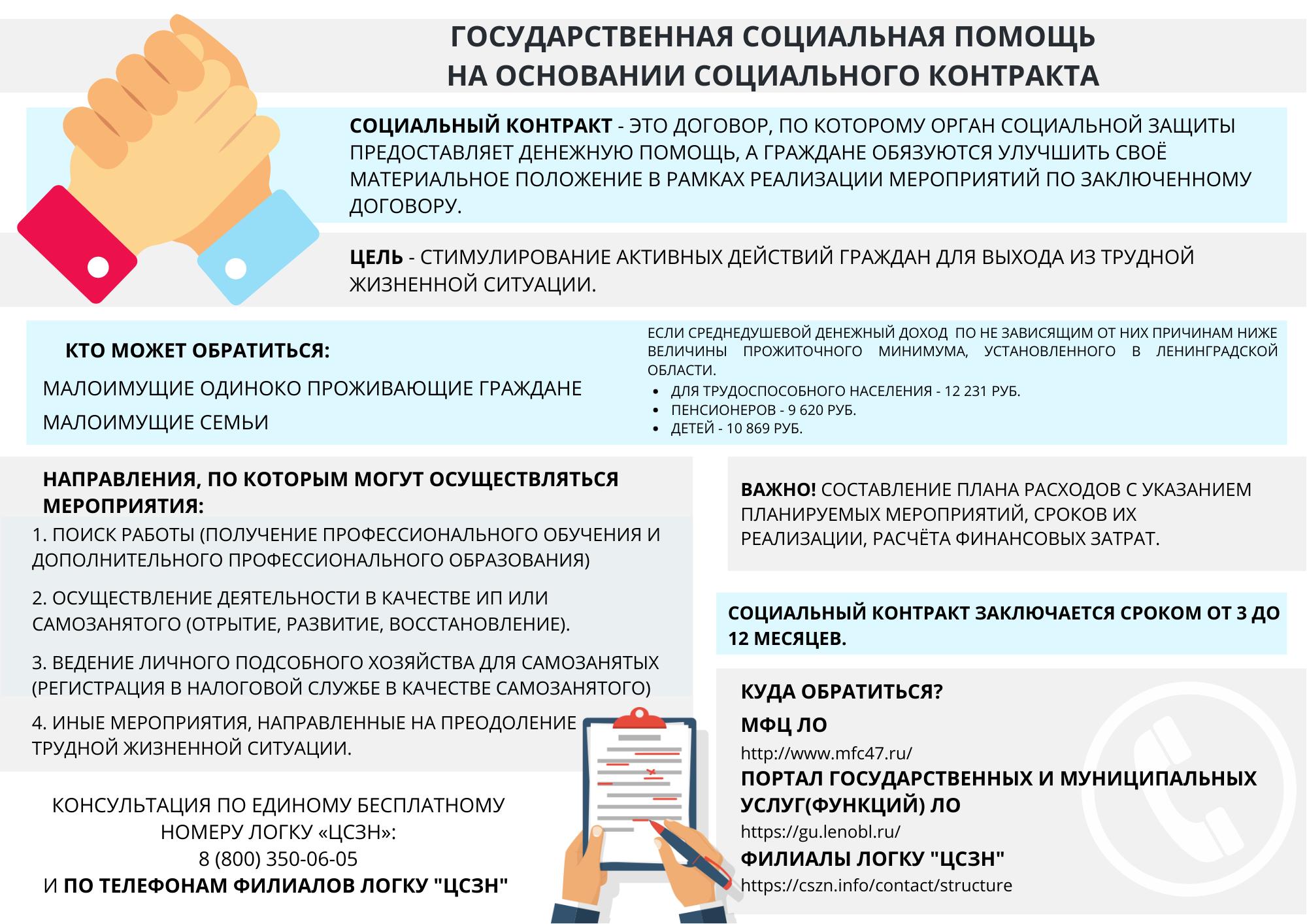 Информация по социальному контракту